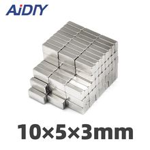 AIDIY 10/30/100 pieces 10x5x3mm  N35 strong Rectangular neodymium magnets permanent small Super powerful 10 * 5 3mm
