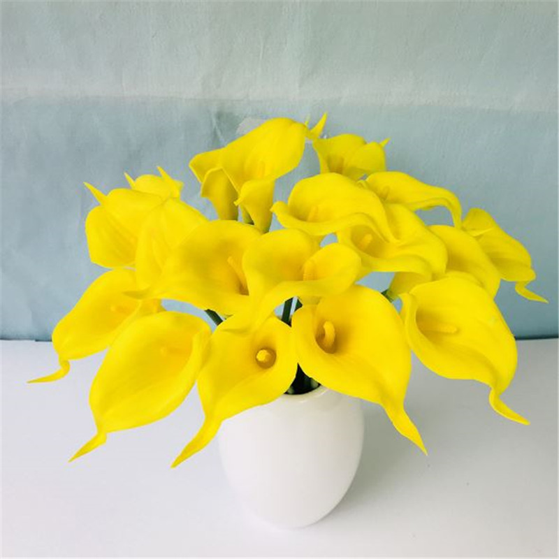 1PC PU Mini Tulips Artificial Flowers For Home And Wedding Decoration Flowers 36