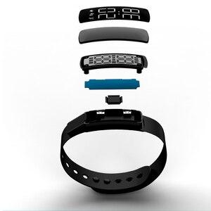 Image 5 - Montre Bracelet électrique pour femmes, étanche, horloge lumineuse, Camouflage, mode, chargement intelligent, LED