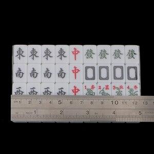 Image 5 - 1 Set Van Chinese Traditionele Mahjong Board Game Verzamelen Party Fun Speelgoed Lichtgroen