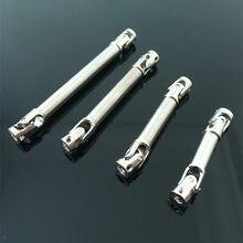 1PC 40-110 milímetros Full 6mm de Diâmetro do Eixo de Acionamento Do Eixo de Transmissão Flexível de Aço w/7mm diâmetro Cardan w/Spline Para 1:24 Caminhão Pesado