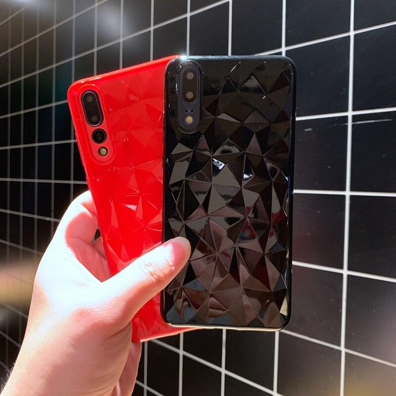 For Huawei P20 P30 Mate 20 X Pro Nova 3 3i Honor 9 View Note 10 Lite 8X Play 3D Diamond Transparen Soft Silicone TPU Case Cover