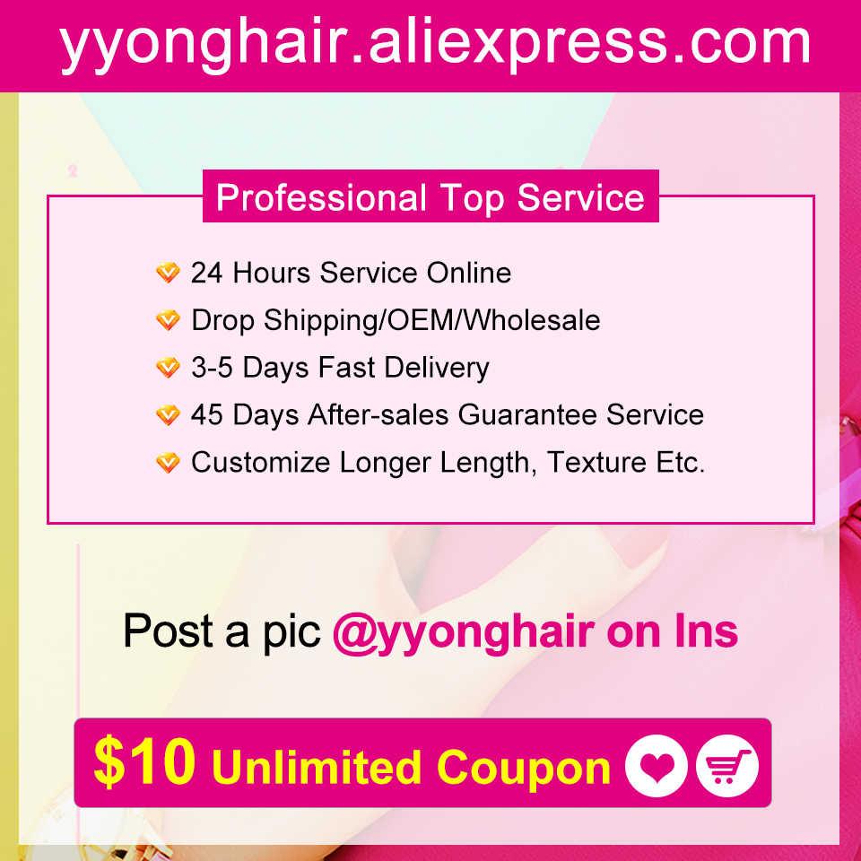 Yyong włosów 4x6 zamknięcie z wiązki Remy brazylijski ciało fala 3/4 wiązki z zamknięciem ludzkich włosów splot wiązek z zamknięciem