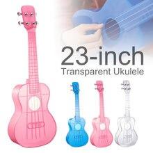 23 дюйма для концертов укулеле прозрачный материал поликарбонат
