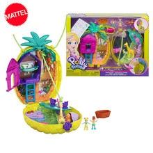 Original polly pocket doll wearable abacaxi bolsa brinquedos quentes para meninas juguetes mini bonecas brinquedos do bebê para crianças presente de aniversário