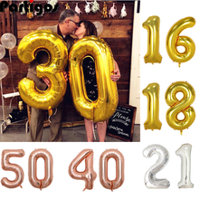 40inch Gold Ballon Banner 16 18 21 30 40 50 Geburtstag Party Dekoration Erwachsene Birday Brief Anzahl Folien Ballon kinder Globos