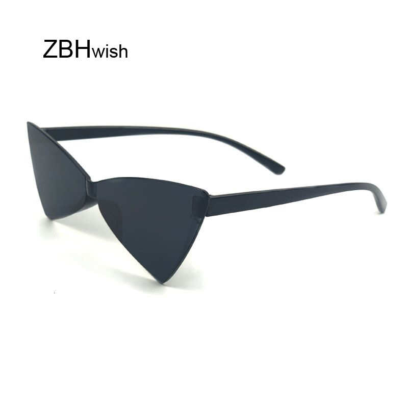 Fashion Cat Eye Sunglasses Women Luxury Brand Designer Trendy Narrow Triangular Glasses Small Vintage Sun Glasses Ladies