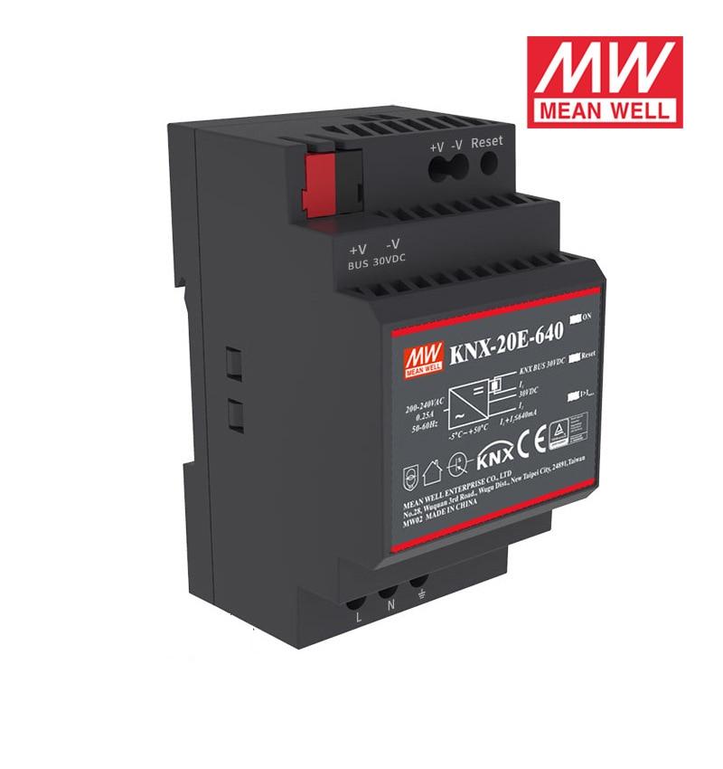 Ofertas especiais significam bem KNX-20E-640 19.2 w 30 v 640ma meanwell KNX-20E 180-264vac fontes de alimentação de comutação