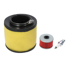 NEW Air Filter Oil Filter &Spark Plug for Honda Rancher 350 Foreman 400 450(China)