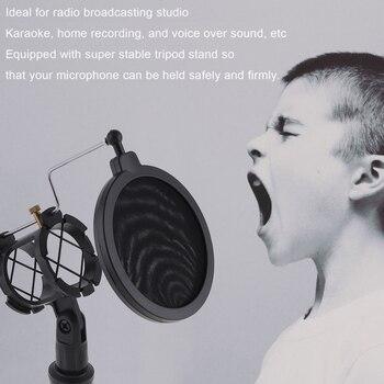 Trépied Multifonctionnel De Support Pour Téléphone Portable De Col De Cygne De Diffusion En Direct Avec Le Support De Microphone/filtre De Pop Pour Le Studio De Selfie Vlog