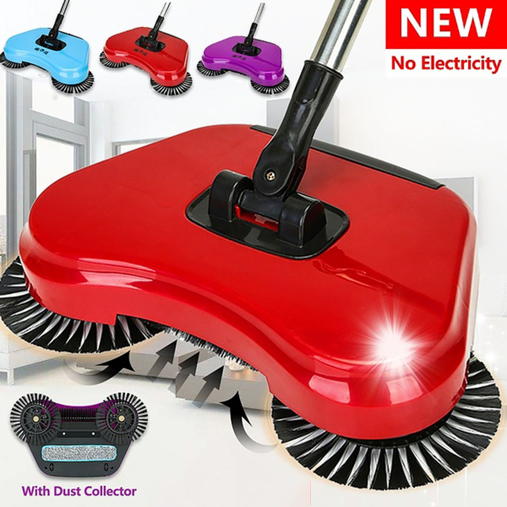 360 degree manual rotary sweeping mop multi function mechanical sweeper hand push cleaning broom dust collector|Hand Push Sweepers| |  - title=