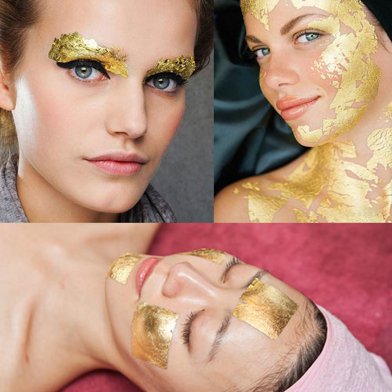 Pure Gold Leaf Edible Gold Foil for Cake Decoration Facial Mask 100pcs 9.33x9.33cm Craft Paper Gilding 24K Real Gold Leaf Sheets-in Craft Paper from Home & Garden    2
