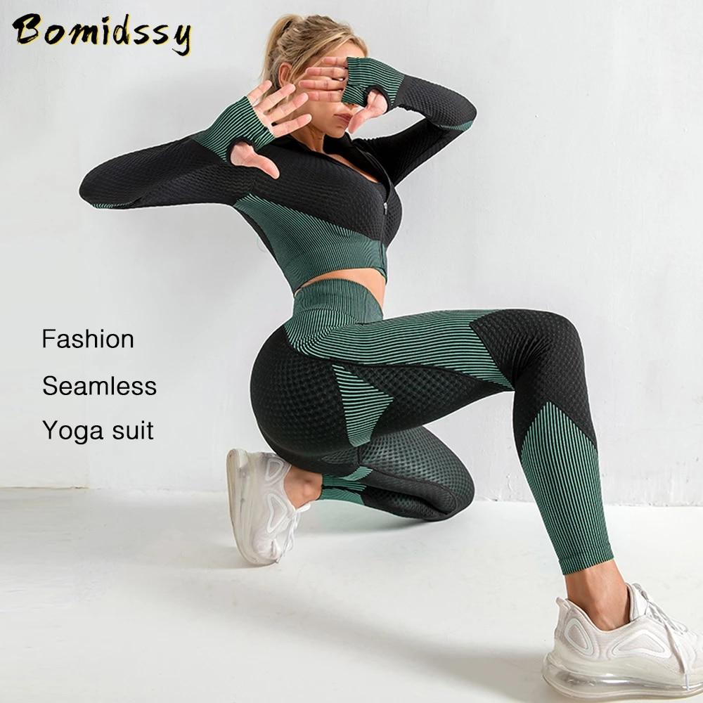 Women Seamless Yoga Leggings High Waisted Fitness Sports Running Training Pants