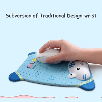 Cute Mouse Pad With Wrist Protect For Computer Laptop Notebook Keyboard Mouse Mat Comfort Silicone Mouse Pad Gaming Accessories 4