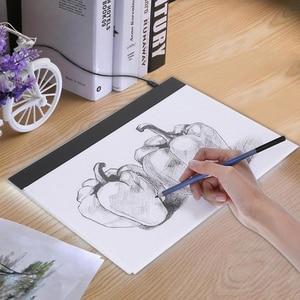 Image 2 - Zeichnung Board Tablet Schreiben Malerei Licht Box Tracing Board Kopie Pads Digitale Zeichnung Tablet Artcraft A4 Kopie Tabelle LED Board