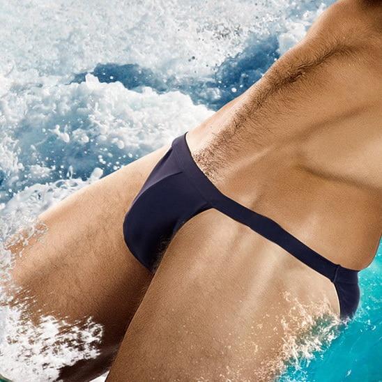 2019 Men Sexy Swim Wear Solid Male Briefs Bikini Blank Red Swim Shorts Custom Micro Gay Men Swimwear Comfort Drop Shipping China