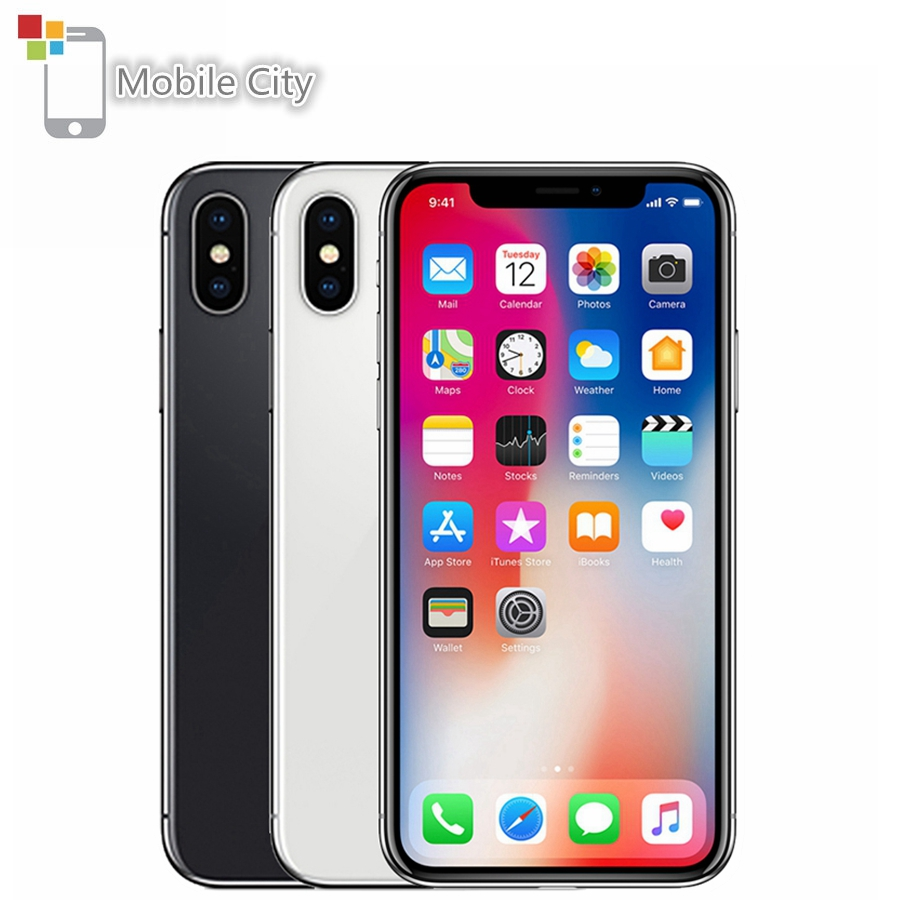 Apple iPhone X Entsperrt <font><b>Smartphone</b></font> 5,8 zoll Apple A11 4G LTE 64 GB/256 GB ROM <font><b>3GB</b></font> <font><b>RAM</b></font> 12MP Dual Hinten Kamera Gesicht ID Handy image