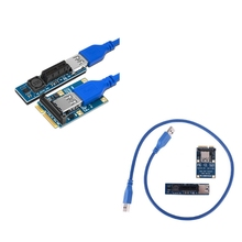 Mini PCIE to PCI-E X1 Expansion Card PCI-E Riser Card SATA Power Connector USB3.0 Cable PCIE Extender