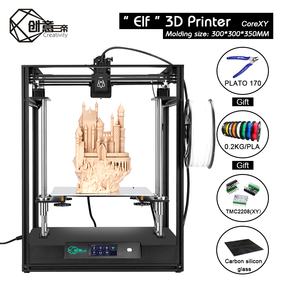 Creativity CoreXY ELF FDM 3D Printer High Precision Dual Z Axis Automatic Return Support BLTouch large area TMC2208 Drive|3D Printers| - AliExpress