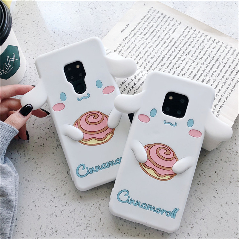 3D Cinnamoroll Silicone Case For Huawei Honor 20S 20 10 9X 8X P20 P30 Pro Lite P Smart