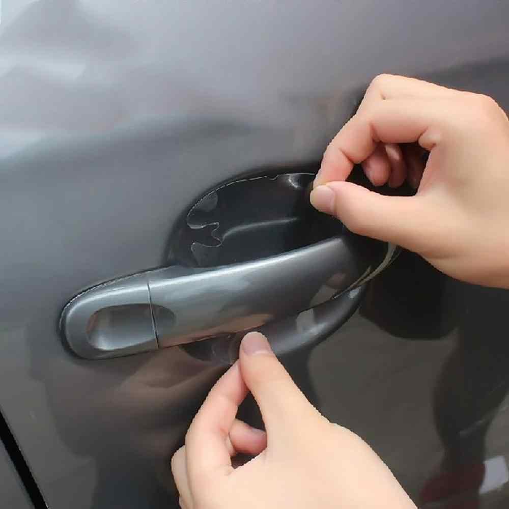 Naklejki samochodowe drzwi ochrona klamki Film niewidoczny uchwyt samochodowy zadrapania samochodowe wstrząsy samochodowe filmy ochronne