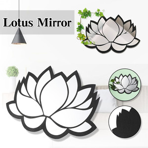 Wall stickers Petal Shaped Mirror Wall Sticker TV Background Bathroom Stickers Wall Decor Bedroom Home Decoration Декор #LR1