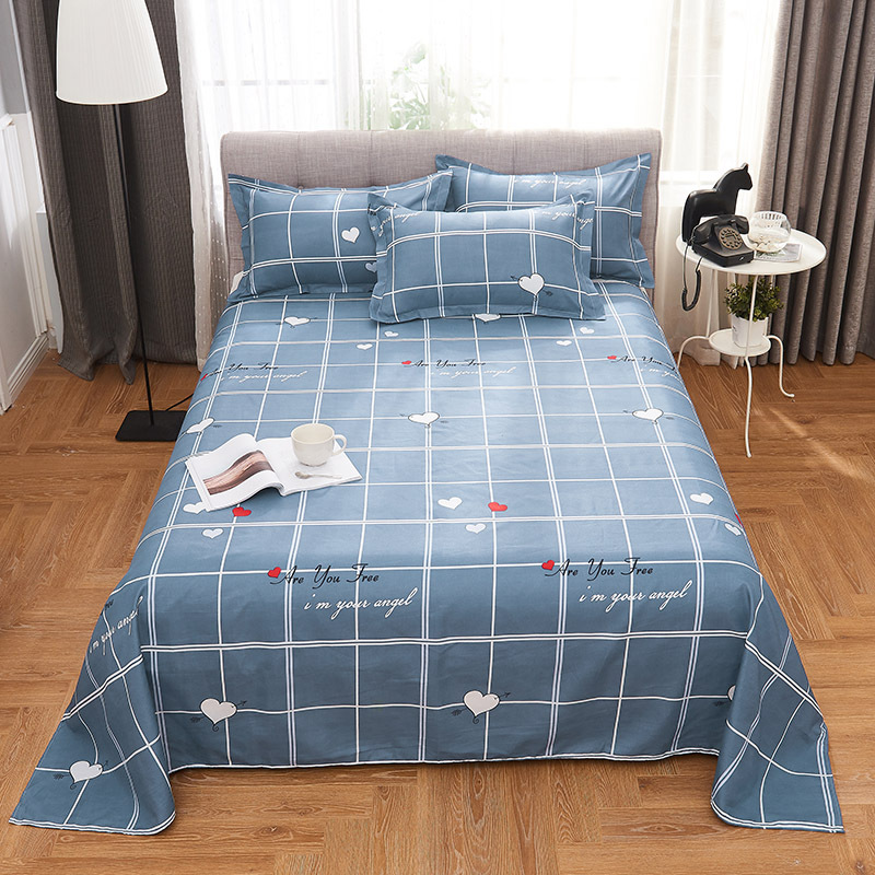 Plaid Four-piece Set Sheet Quilt Cover Students 4 Pieces In A Set 1.0 M 1.8 M Bed Three Sets Of Quilt Cover Bedding Article