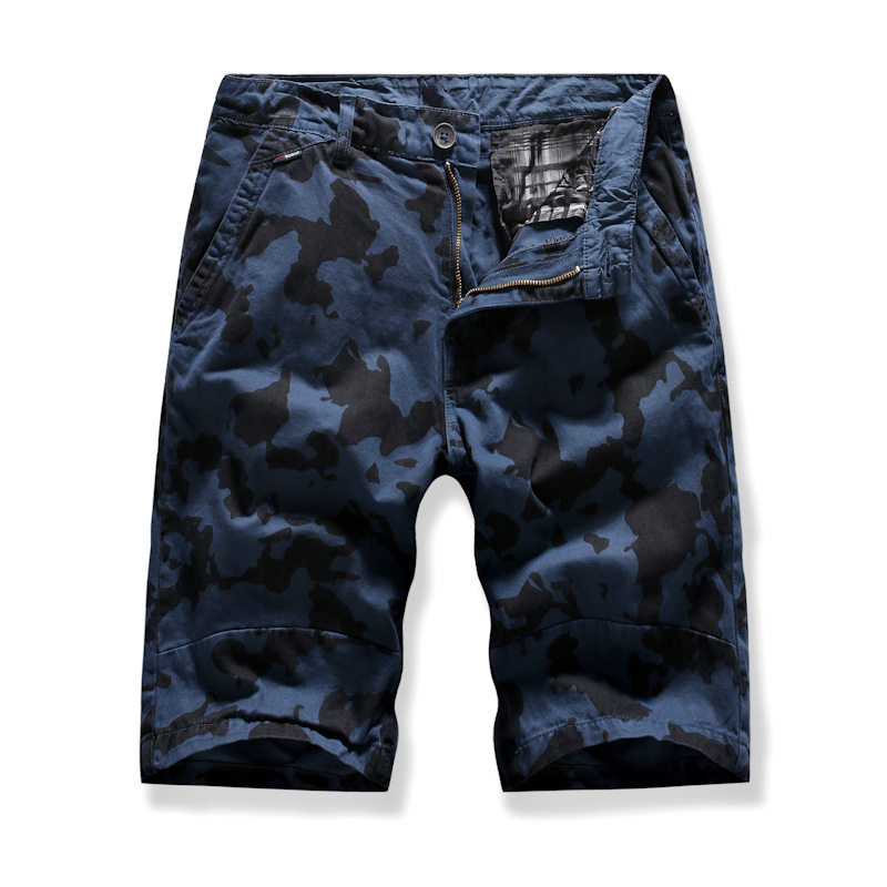 MEN'S WEAR New Style Summer Trend Short Shorts Europe And America Youth Men Printed Pants Camouflage Middle Pants