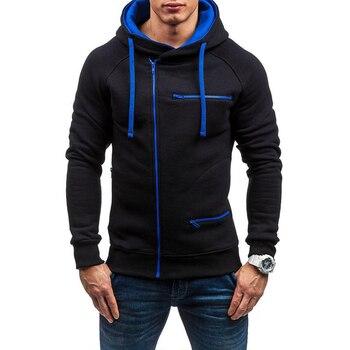 Fashion Brand Men's Hoodies 2020 Spring Autumn Male Casual Hoodies Sweatshirts Men's Zipper Solid Color Hoodies