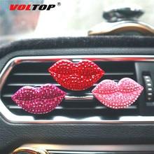 Clip de Perfume de coche de labios rojos adornos de aire de salida de salpicadero Decoración Accesorios de coche colgante Interior