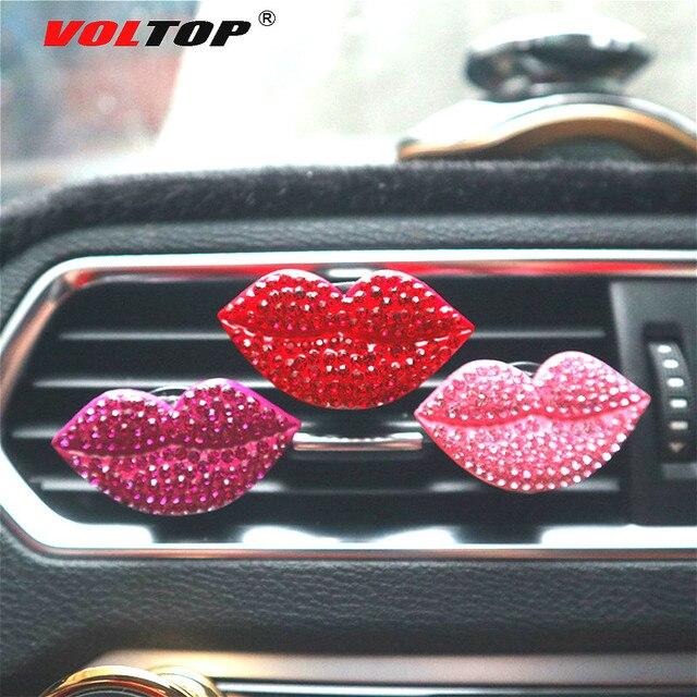 Clip de parfum de voiture rouge à lèvres ornements de voiture sortie dair tableau de bord décoration accessoires de voiture pendentif suspendu intérieur