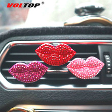 Red Lip Car Perfume Clip Car Ornaments Air Outlet Dashboard Decoration Car Accessories Interior Hanging Pendant