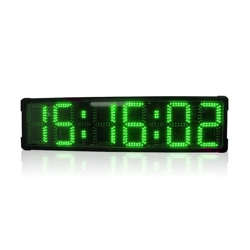 Free Shipping Led Countdown Clock Double-sided 6 Digits Large Led Digital Marathon Race Timer Clock
