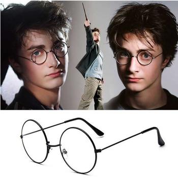 NONOR Fashion Harry Eyewear Eyeglasses Black Small Round Vintage Retro Metal Frame Clear Lens Glasses  Circle Eye