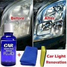 Faro de Anti-arañazos nueva linterna del coche de la reparación de líquido y Anti-arañazos. Mantenimiento Kit 30ML líquido limpiador de lente