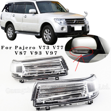 For Mitsubishi Pajero V73 V77 V87 V93 V97 1998-2016 Outside rearview Mirror LED Turn light Signal Lamp Blink Reprater lamp