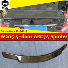 Fits For MercedesMB W205 Tail Spoiler Wing Carbon Fiber C74 Style 2-doors C180 C200 C250 Rear trunk spoiler wing 2015-2018