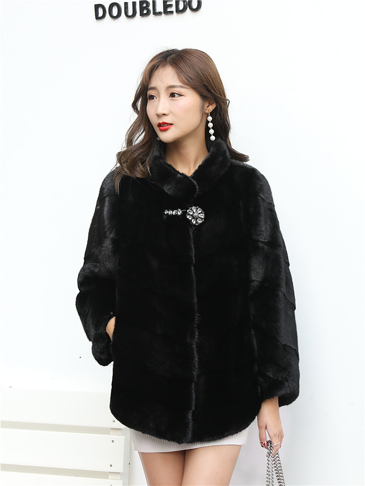 Fur Mink Natural Coat Female Luxury Fur Jackets 2020 Winter Jacket Women Short Coat Female Korean Jacket Plus Size MY