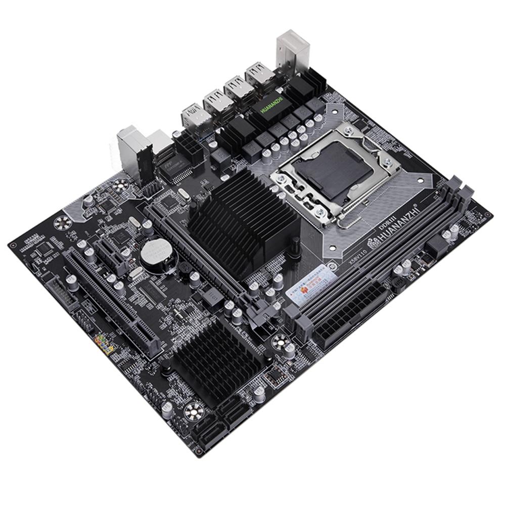 HUANANZHI X58 LGA 1366 Motherboard Support REG ECC Server Memory and Xeon Processor Support LGA 1366 CPU