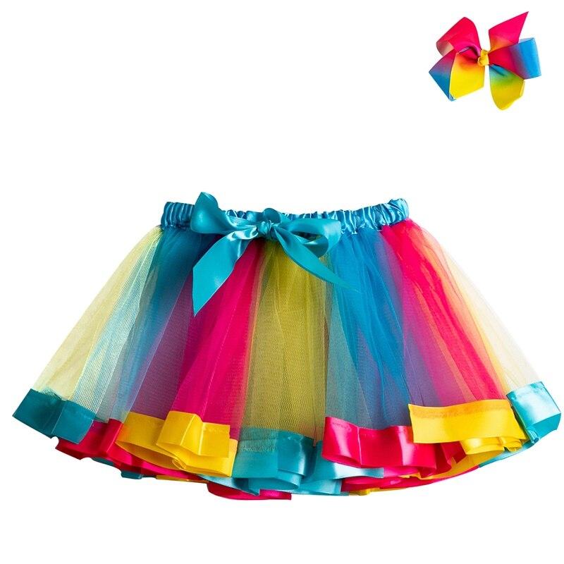 Летняя юбка-пачка; юбки для маленьких девочек; мини-юбка принцессы для дня рождения; Радужная юбка с единорогами; Одежда для девочек; одежда для детей - Цвет: 7
