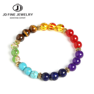 Image 4 - JD Fashion 7 Chakra Bracelet Men Black Lava Healing Balance Beads Reiki Buddha Prayer Natural Stone Yoga Bracelet Women Jewelry