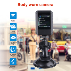 Body Worn Camera HD 1080P IR Night Vision Car DVR Video Security Cam IR Night Vision Wearable Mini Camcorders Police Camera