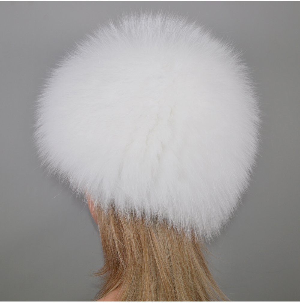 H941b49b8b99448d197416a78b8969dcav - New Luxury 100% Natural Real Fox Fur Hat Women Winter Knitted Real Fox Fur Bomber Cap Girls Warm Soft Fox Fur Beanies Hats