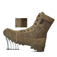 Spring Winter Men Women Outdoor Desert Army Fan Shoes Combat High Top Tactical Training Breathable Antiskid Shock Military  Boot