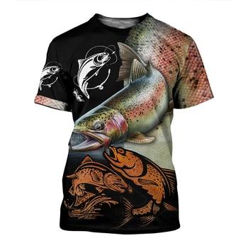 Salmon Fishing T Shirt All Over Print