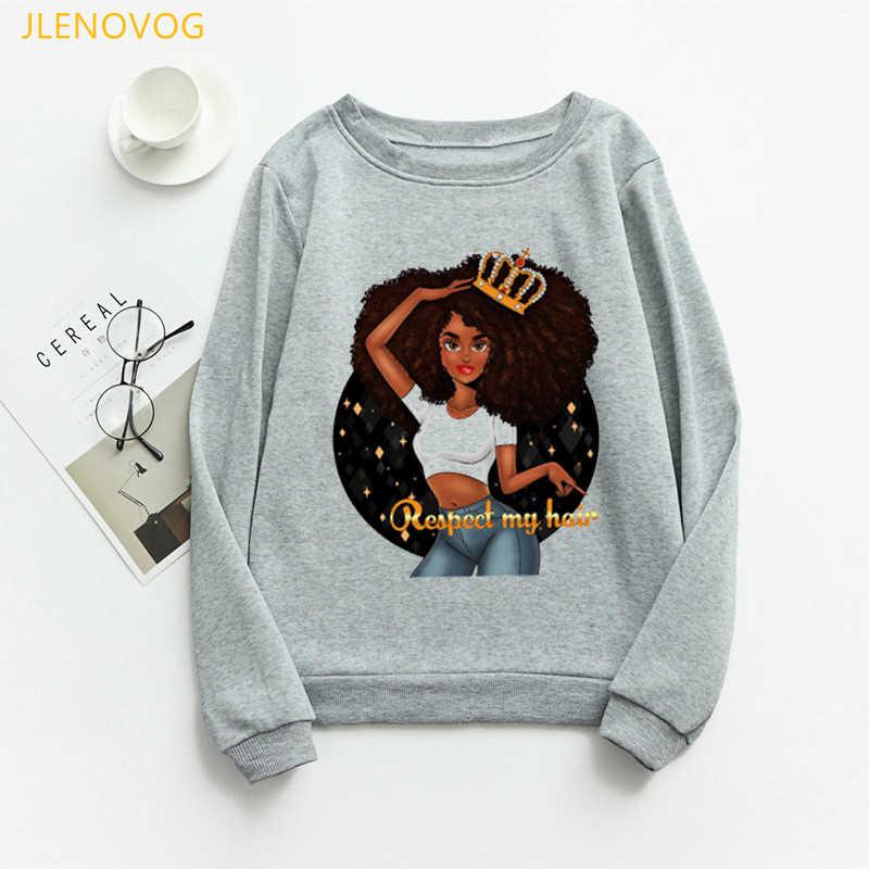 Handmade Beautiful Lady 896 Unisex Afro Lady Nailhead /& Rhinestone Women/'s Crew Neck Sweatshirt Plus Size Bling Bling