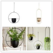 Iron Hanging Flower Pot Decorative Swinging Flower Basket Wall Hanging Flower Pot Decorative Hanging Basket Wall Mount