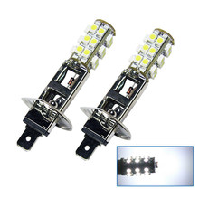 2Pcs/Set H1 12V 25SMD LED Driving Fog Light Replacement Bulb Bright White Wholesale In-Stock Stocked
