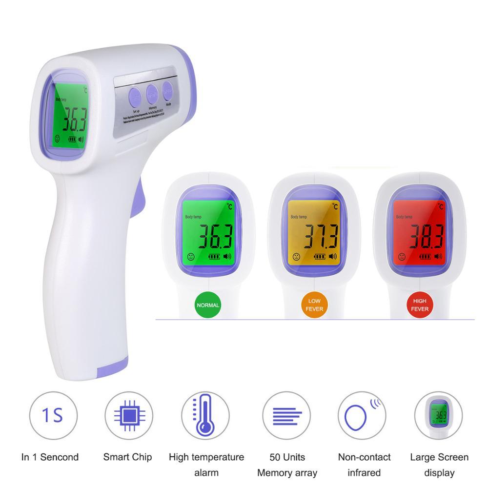 termometro digital infravermelho Termômetro Digital Infravermelho Bebê Adulto Testa Não-contato Termômetro Infravermelho Com Backlight LCD Termometro Infravermelh