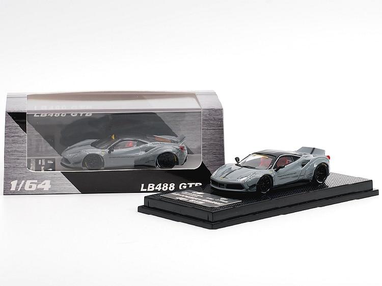 CM Model 1:64 LB Performance 488 GTB Gray Diecast Model Car